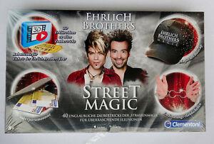 Clementoni Ehrlich Brothers Street Magic Zauberkasten Kinder Straßen zaubern