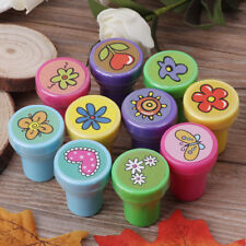 10Pcs Cartoon Self Inking Stamps Kids Children Toy Party Craft Gift