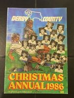 DERBY COUNTY - CHRISTMAS ANNUAL 1986 - SOFT COVER - RAM OFFICIAL PUBLICATION
