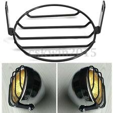 "6.3"" Vintage Metal Grill Motorcycle Headlight Cover For Yamaha Suzuki Kawasaki"