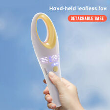 2020 New Portable Bladeless Hand Held Cooler Mini USB Cable No Leaf Handy Fan US