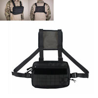 Tactical Molle Pouch Combat Chest Recon Kit Bag Hip Hop Streetwear Bag