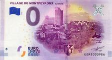 63 MONTPEYROUX Village d'Auvergne, N° de la 10ème, 2018, Billet 0 € Souvenir