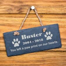 Personalised-Engraved-Slate-Stone-Heart-Pet-Memorial-Grave-Marker-Plaque SL-RC1