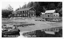 Photo. ca 1944. Port Renfrew, BC Canada. Port Renfrew Hotel and Grocery Store