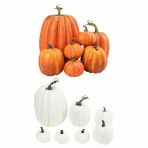 7pcs Artificial Foam Pumpkin Simulation Props Halloween Decorations Party Decor