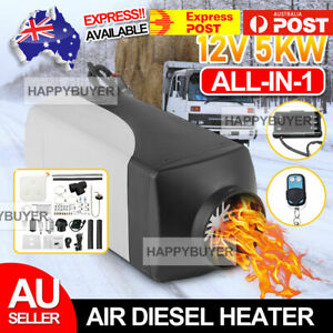 Diesel Air Heater 12V 5KW Tank Remote Control Thermostat Caravan Motorhome RV