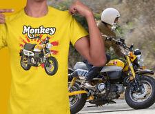 Honda Monkey Bike Rising Sun UNISEX Short Sleeve T-Shirt (yellow)