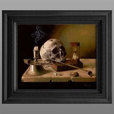 "Still Life Skull Framed Art 16x20"" Giclee Canvas Print from Oil Painting w/COA"