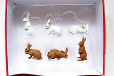 Preiser G 1:25 Scale 47052 SIX BUNNIES : BUNNY RABBIT Animal Figures