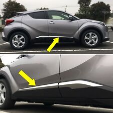 For Toyota C-HR 2017 2018 ABS Chrome Door Body Molding Overlay Guard Cover Trims