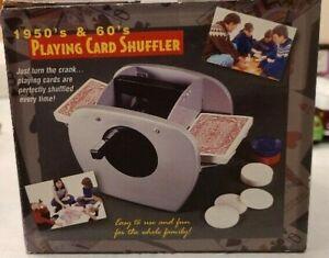 Manual Crank Playing Card Shuffler Open Box NEW