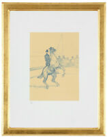 """Fine Toulouse Lautrec """"Horse Rider' Hand Numbered 15/20 Lithograph Unframed COA"""