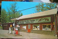 1971 Fin-Fur-Feather Trading Post Lock Haven Pennsylvania PA postcard view