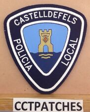 CASTELLDEFELS, SPAIN POLICIA LOCAL POLICE SHOULDER PATCH