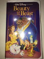 Beauty And The Beast VHS Tape 1992 Walt Disney's Black Diamond Classic-1325 RARE