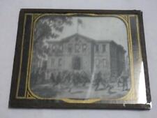 ANTIQUE SCHOOL YARD BUILDING PHOTOGRAPH GLASS PLATE MAGIC LANTERN HISTORY