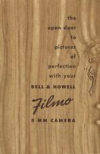 Bell & Howell Filmo 8mm Movie Camera Instruction Manual