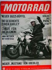 Zeitschrift Das Motorrad 1965 Nr. 5 - Bullerjan HD, Moto Guzzi V7, Motorsport