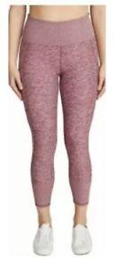 Kirkland Signature Ladies Brushed Legging Stretch Fabric Pockets Pink Small NWT