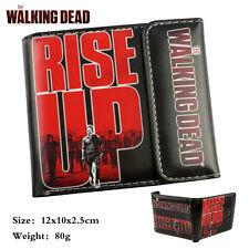 The Walking Dead Wallet Short PU Bifold Coin Bag Photo Holder Purse boy Gift