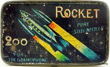 ROCKET brand gramophone needle tin. **RARE** JAPANESE