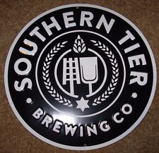 SOUTHERN TIER BREWING CO Black pumking METAL TACKER SIGN craft beer brewery