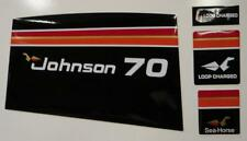 Johnson Outboard Hood Decals 3 CYL 70 hp 1975