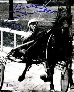 "BECKETT-BAS BOBBY HULL ""HOF 1983"" AUTOGRAPHED-SIGNED 8x10 HARNESS DRIVER PHOTO 9"