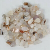 White agate Ore Crushed Gravel Stone Chunk Lots Degaussing Healing energy worn