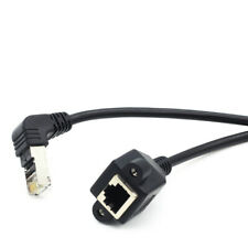 Down Angle RJ45 Male to Female Ethernet Cable Panel Mount Network Extension Cord