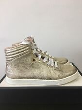 cf63b28eb51 RRP £495 GUCCI Gold Leather High Top Trainers 37 - New In Box