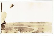 VINTAGE 1930'S GRAF ZEPPELIN REAL PHOTO POSTCARD-THROWING THE BAG