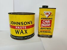 Vintage Johnson's Car Plate Wax and Paste Wax