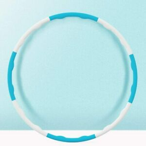 1Kg Weighted Fitness  Hula Hoop: Collapsible, Padded Blue & White 8 sections