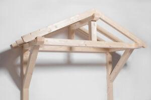 Massivholz Vordach Türvordach Überdachung Holzvordach Holz Pultvordach Haustür