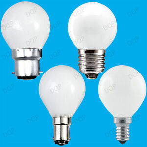 4x Opal Golf Round Dimmable Standard Light Bulbs 25W 40W 60W BC ES SBC SES Lamps