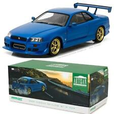 GREENLIGHT 19032 1999 NISSAN SKYLINE GT-R (R34) BAYSIDE BLUE DIECAST CAR 1:18