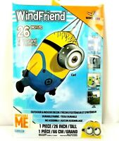 "XKites WindFriend Minion Carl 3D Nylon Windsock 26"" Tall Despicable Me NEW"