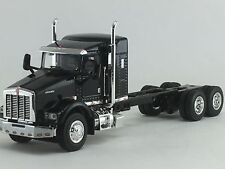 "1/64 DCP BLACK KENWORTH T800 W/ 38"" SLEEPER & CHASSIS"
