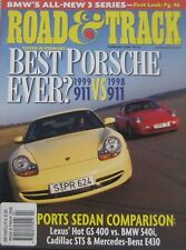 Road & Track magazine 02/1998 featuring Porsche, BMW, Mercedes, Shelby, Cadillac