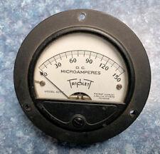 Vintage Triplett 3 12 Panel Meter Dc 0 150ua Microamperes Model 321 T Tested