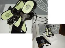 Original Versace Schuhe High Heels Sandalen Sandaletten Riemchen Gr. 38 1/2 NEU