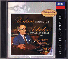 Clifford Curzon Brahms Pianoforte Sonata 3 Schubert d.960 CD intermezzo Classic Sound
