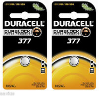 Duracell 377 SR66 SR6265W 1.5V Watch Battery for Bulova Seiko Citizen Vinnic 2PK
