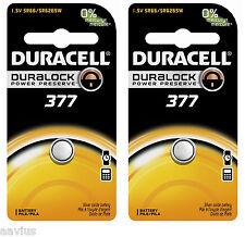 Duracell 377 SR66 SR6265W 1.5V Watch Battery for Bulova Seiko Citizen Vinnic 2PK