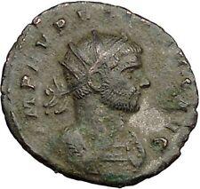 Aurelian receiving globe from Jupiter Ancient Roman Coin Jupiter Cult  i39461