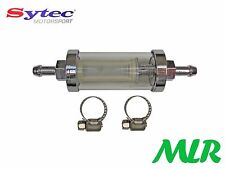 SYTEC SERVICEABLE IN LINE FUEL FILTER CLASSIC CARS LOW PRESSURE CARB SYSTEMS HO