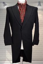 """Bespoke Vintage 1960s Gents Black Formal Morning Jacket Chest 40"""""""