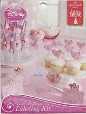 Disney VIP Princess Labeling Kit Birthday Party Supplies For 8 Guests New